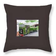 Please May I Drive? - Llangollen Steam Railway, North Wales Throw Pillow