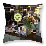 Please Wait To Be Seated Throw Pillow