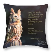 Pleasing In Your Sight - Psalm 19 Throw Pillow
