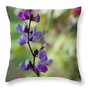 Pleasing Purple Plant Picture Throw Pillow