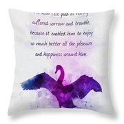 Pleasure And Happiness Throw Pillow