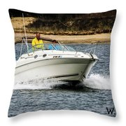 Pleasure Boat Throw Pillow