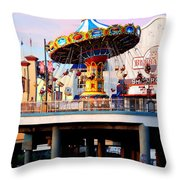 Pleasure Pier Throw Pillow