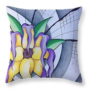 Pleiadean Sunflower Throw Pillow