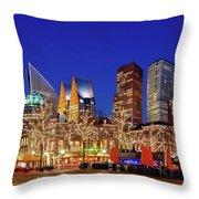 Plein At Blue Hour - The Hague Throw Pillow