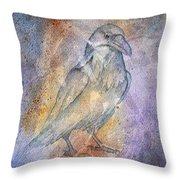 Pleistocene Raven 1 Throw Pillow