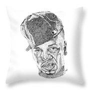 Plies Throw Pillow