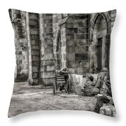Plight Of The Homeless Throw Pillow