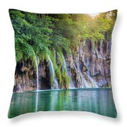 Plitvice Sunburst Throw Pillow