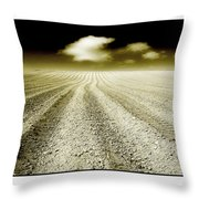 Ploughed 1 Throw Pillow