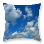Ploughing Under A Mid Day Sun Throw Pillow