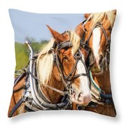 Plow Buddies Throw Pillow