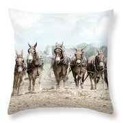 Plowing The Fields Throw Pillow
