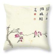 Plum Blossom Throw Pillow