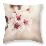Plum Blossoms Throw Pillow by Lisa Russo