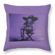 Plum Cowgirl Throw Pillow