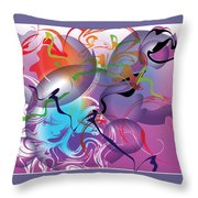 Plum Dance Throw Pillow