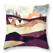 Plum Fields Throw Pillow