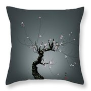 Plum Flower 0204 Throw Pillow