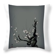 Plum Flower 3 Throw Pillow