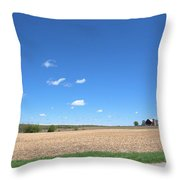 Plum Hollow Rural Throw Pillow