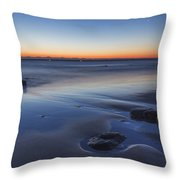 Plum Island Blue And Red Dawn Throw Pillow