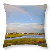 Plum Island Rainbow Throw Pillow