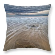 Plum Island Wave Energy Throw Pillow