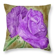 Plum Passion Rose Throw Pillow