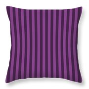 Plum Purple Striped Pattern Design Throw Pillow