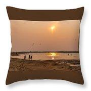 Plum Sunset Throw Pillow