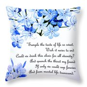 Plumbago   Poem Throw Pillow