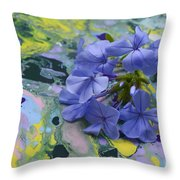 Plumbago Flowers Throw Pillow