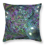 Plume And Bubbles Throw Pillow