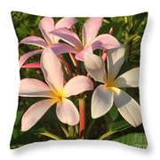 Plumeria Heaven Throw Pillow by LeeAnn Kendall