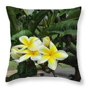 Plumeria In Yellow 2 Throw Pillow