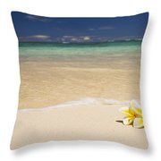 Plumeria Pair Throw Pillow