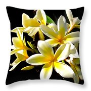 Plumeria Proper Throw Pillow