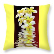 Plumeria Reflections By Kaye Menner Throw Pillow