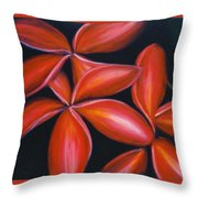 Plumeria Rouge Throw Pillow