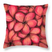 Plumerias Throw Pillow