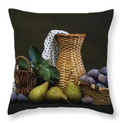 Plums And Pears Throw Pillow