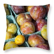 Plums Throw Pillow by John Greim