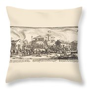 Plundering And Burning A Village Throw Pillow