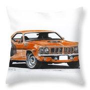 Plymouth Barracuda 1973 Hemi Cuda Throw Pillow