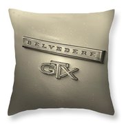 Plymouth Belvedere Gtx Fender Emblem Badge Throw Pillow