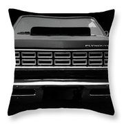 Plymouth Fury - Black Throw Pillow