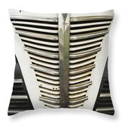 Plymouth Grille Throw Pillow