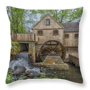 Plymouth Grist Mill Throw Pillow