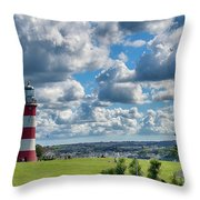 Plymouth Hoe And Smeatons Tower Throw Pillow